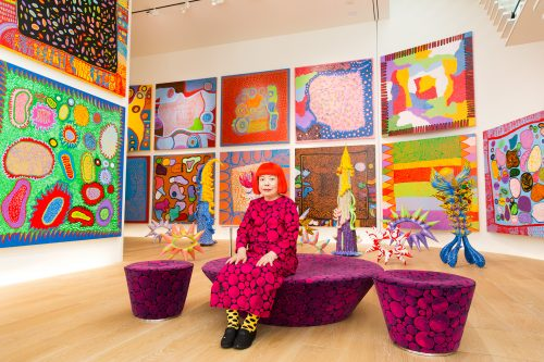 Yayoi Kusama with recent works