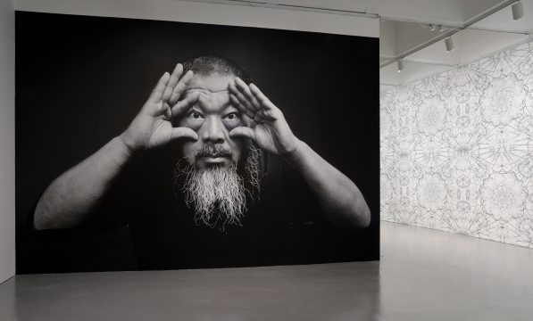 Installation view of Ai Weiwei: Trace at Hirshhorn at the Hirshhorn Museum and Sculpture Garden, 2017. Photo: Cathy Carver.