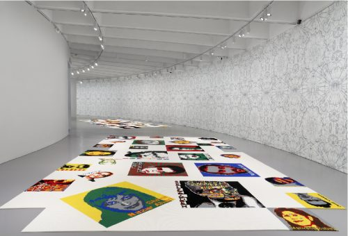 installation shot of Ai Weiwei: Trace at Hirshhorn