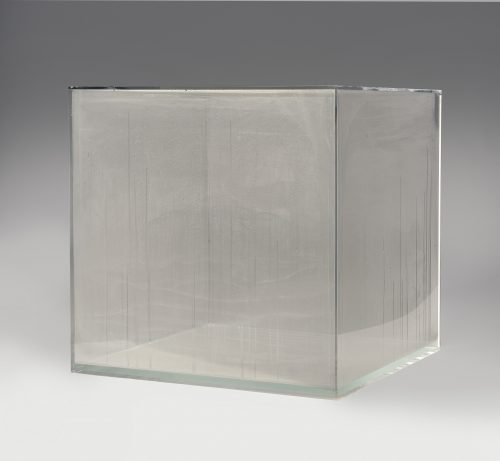 Hans Haacke, Condensation Cube, 1963 (fabricated 2008) Plastic and water; 30 x 30 x 30 in. Museum Purchase, 2008 Courtesy Hirshhorn Museum and Sculpture Garden. Photo by Lee Stalsworth