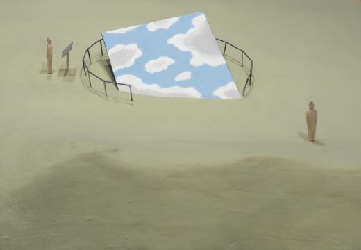 Detail of Ilya and Emilia Kabakov's The Fallen Sky, 2010