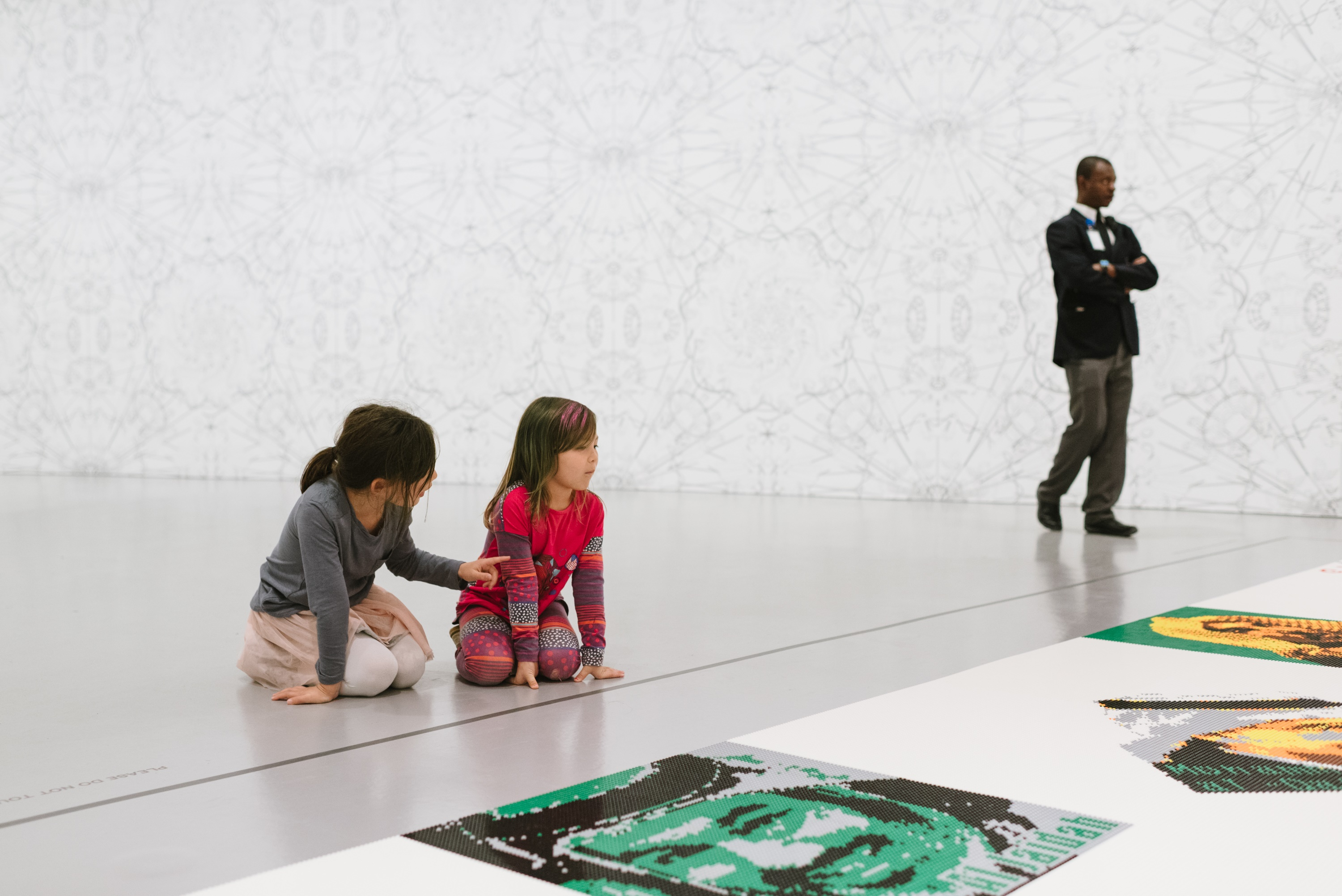 Children in Gallery Ai Weiwei Trace at Hirshhorn
