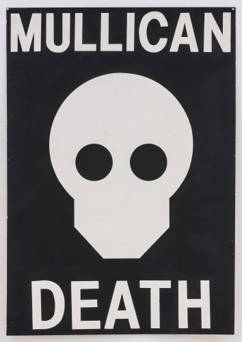 Matt Mullican, Untitled (Death), 1980. Lead paint on paper mounted on canvas; 60 x 42 in (152.5 x 106.7 cm). Courtesy of the artist, Mai 36 Galerie, Zurich and Peter Freeman, Inc.