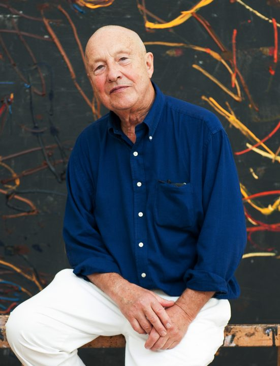Portrait of Georg Baselitz in his studio, 2014. Photo by Peter Knaup, Berlin.