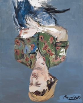 Georg Baselitz, Fünfzinger Jahre Porträt–M. W. (Fifties Portrait – M. W.), 1969. Synthetic resin on canvas, 162 x 130 cm. Privately owned. © Georg Baselitz 2018. Photo: Jochen Littkemann
