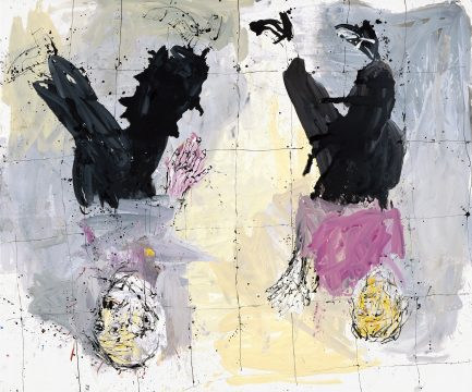 Georg Baselitz, Adieu (Remix), 2006. Oil on canvas, 256 x 306 cm. Privately owned. © Georg Baselitz 2018. Photo: Jochen Littkemann