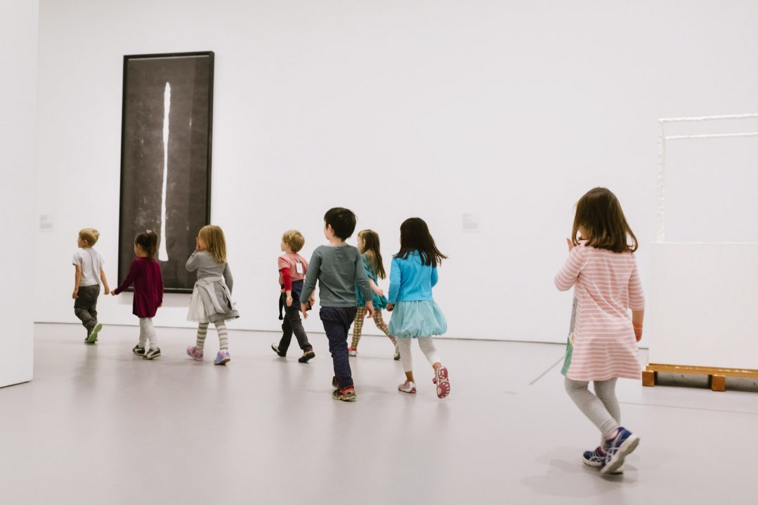 Children in gallery at Hirshhorn