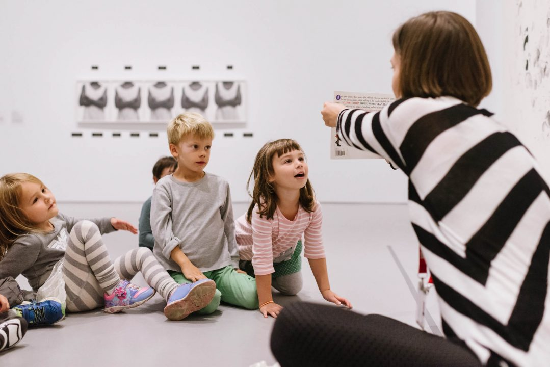 Children in gallery for STORYTIME
