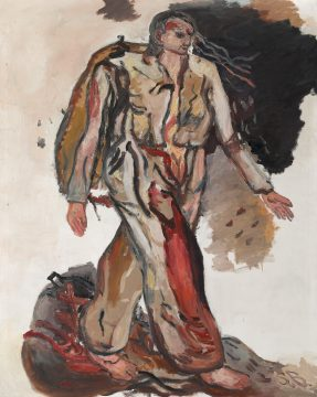 Georg Baselitz, Bonjour Monsieur Courbet, 1965. Oil on canvas, 162 x 130 cm. Collection Thaddaeus Ropac, London, Paris, Salzburg. © Georg Baselitz 2018. Photo: Ulrich Ghezzi