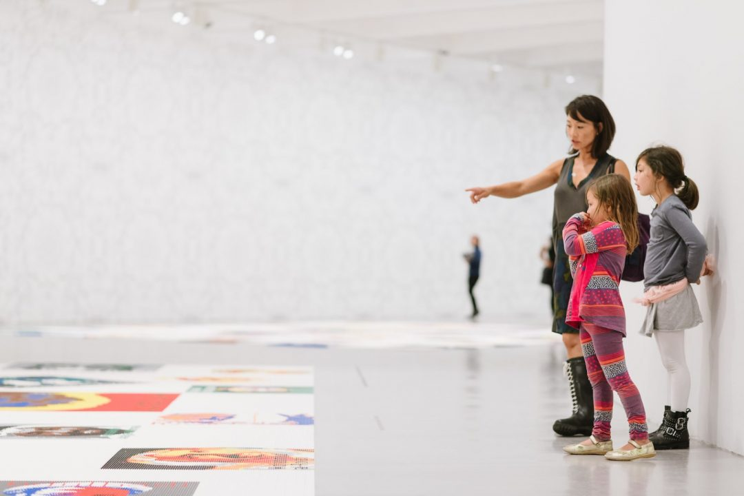 Family visiting Ai Weiwei Trace at Hirshhorn
