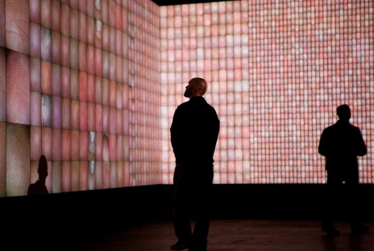 Rafael Lozano-Hemmer, Pulse Index, 2010 in Time Lapse, Site Santa Fe, Santa Fe, New Mexico, United States, 2012. Photo: Kate Russel.