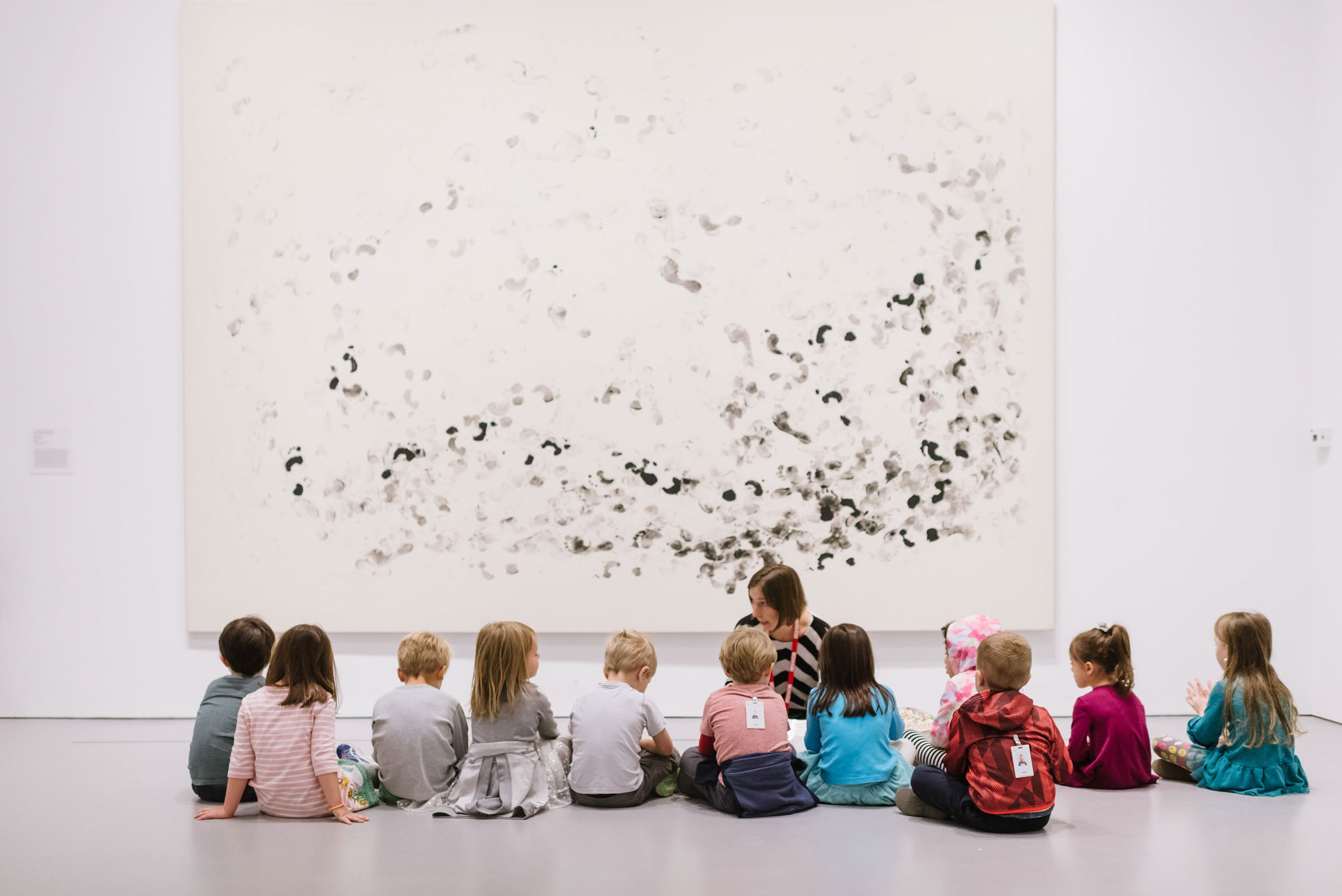 Children in gallery participating in STORYTIME