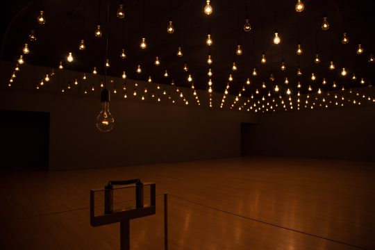 Rafael Lozano-Hemmer, Pulse Room, 2006 at the Musée d´Art Contemporaine, Montréal, Québec, Canada, 2014. Photo: Richard-Max Tremblay.
