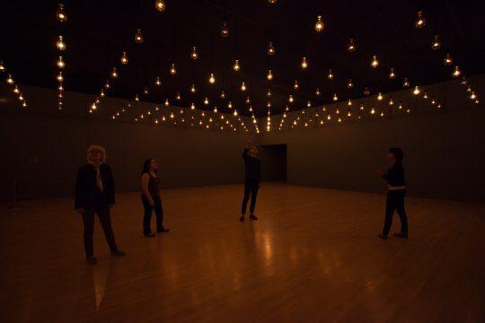 Rafael Lozano-Hemmer, Pulse Room, 2006 at the Musée d´Art Contemporaine, Montréal, Québec, Canada, 2014. Photo: Richard-Max Tremblay.