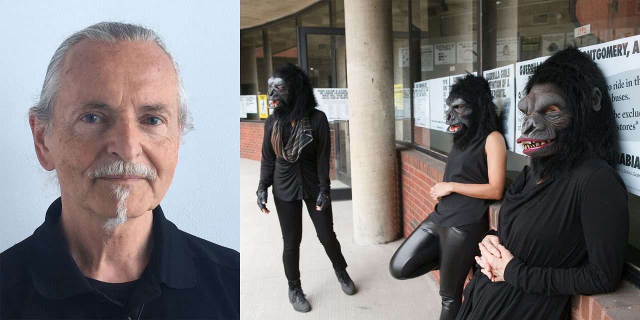Left - Krzysztof Wodiczko, Right - Guerrilla Girls