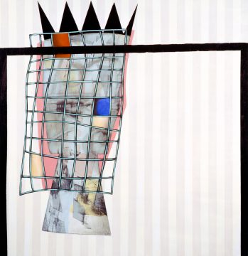 Charline von Heyl, Idolores, 2011. Acrylic and oil on linen, 62 x 60 in. ©Charline von Heyl. Courtesy of the artist and Petzel, New York. High Museum of Art, Atlanta, Gift of the Alex Katz Foundation, 2011.334