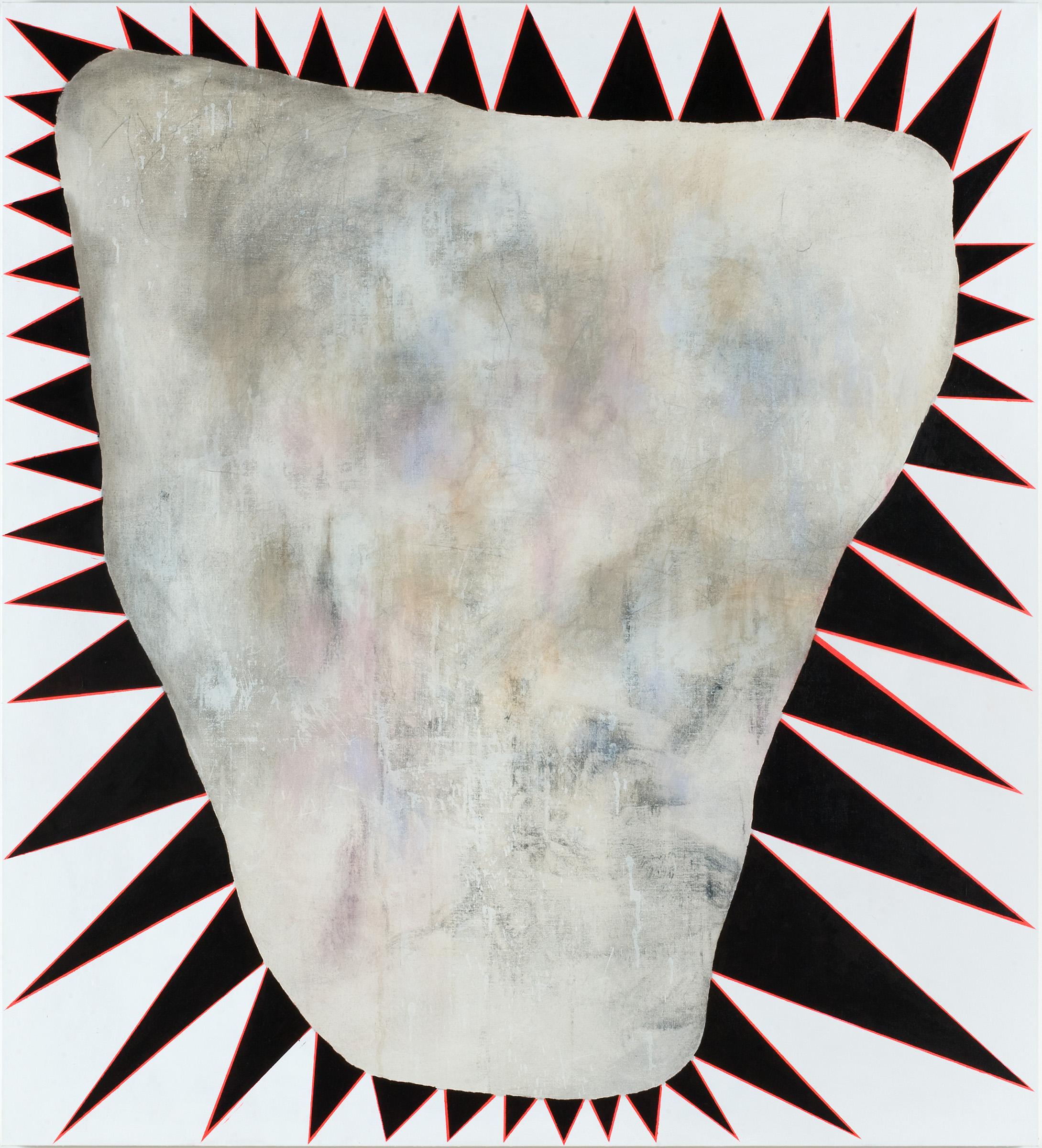 Charline von Heyl, P., 2008. Acrylic and crayons on linen, 208.3 x 188 x 3.8 cm. ©Charline von Heyl. Courtesy of the artist and Petzel, New York. Solomon R. Guggenheim Museum, New York Gift, Adam and LeeLee Kimmel, 2016