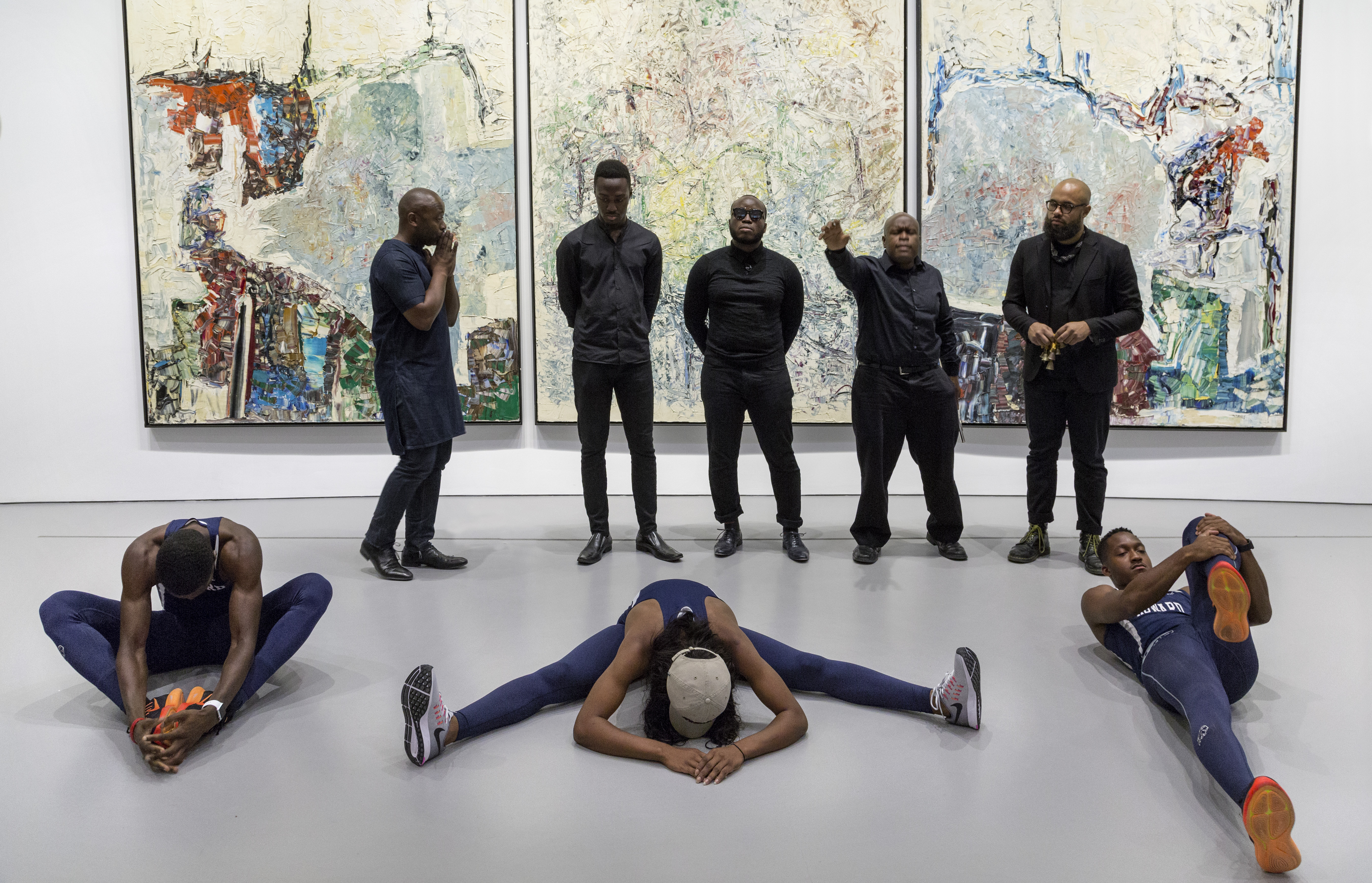 Theaster Gates, Processions: The Runners at the Hirshhorn Museum and Sculpture Garden, 2016. Photo: Cathy Carver