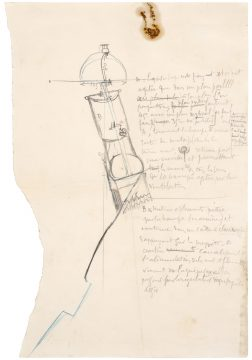 Marcel Duchamp Pendu femelle (Female Hanged Body), 1913 Colored pencil, charcoal, black ink on paper Promised Gift of Barbara and Aaron Levine Hirshhorn Museum and Sculpture Garden, Washington, D.C.; photo: Cathy Carver © Association Marcel Duchamp / ADAGP, Paris / Artists Rights Society (ARS), New York 2019