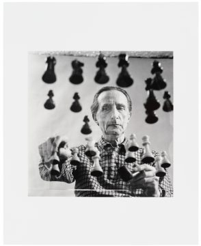 Arnold Rosenberg Marcel Duchamp, 1958/printed 2015 Gelatin silver photograph Edition: 2/16 Hirshhorn Museum and Sculpture Garden, Washington, D.C.; photo: Cathy Carver Promised Gift of Barbara and Aaron Levine