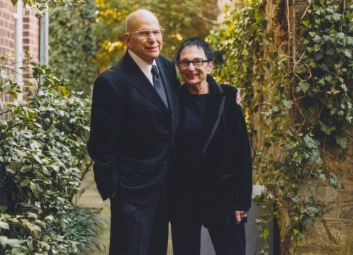 Aaron and Barbara Levine at their home in Washington, D.C. Photo by Eli Meir Kaplan