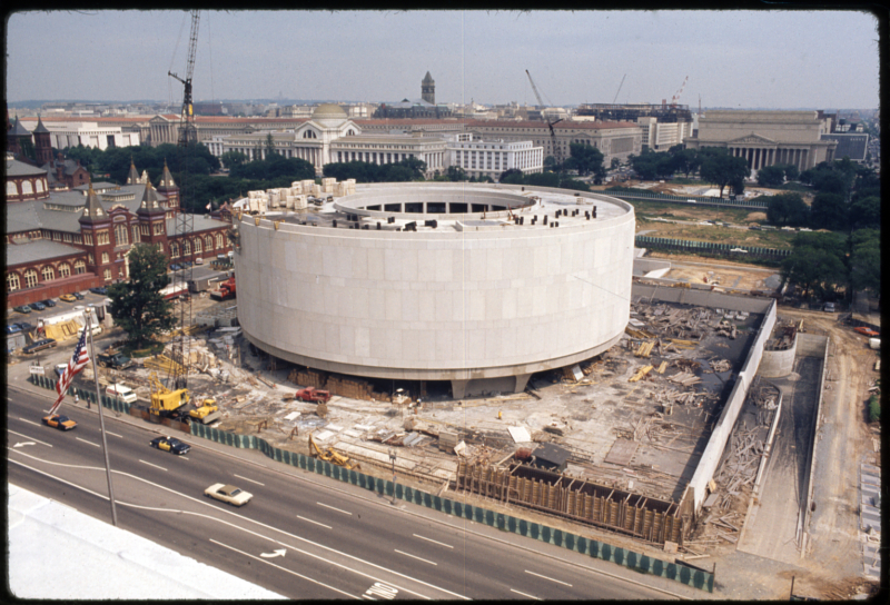 Progress shots of the construction of the Hirshhorn Museum and Sculpture Garden, May 30, 1973.