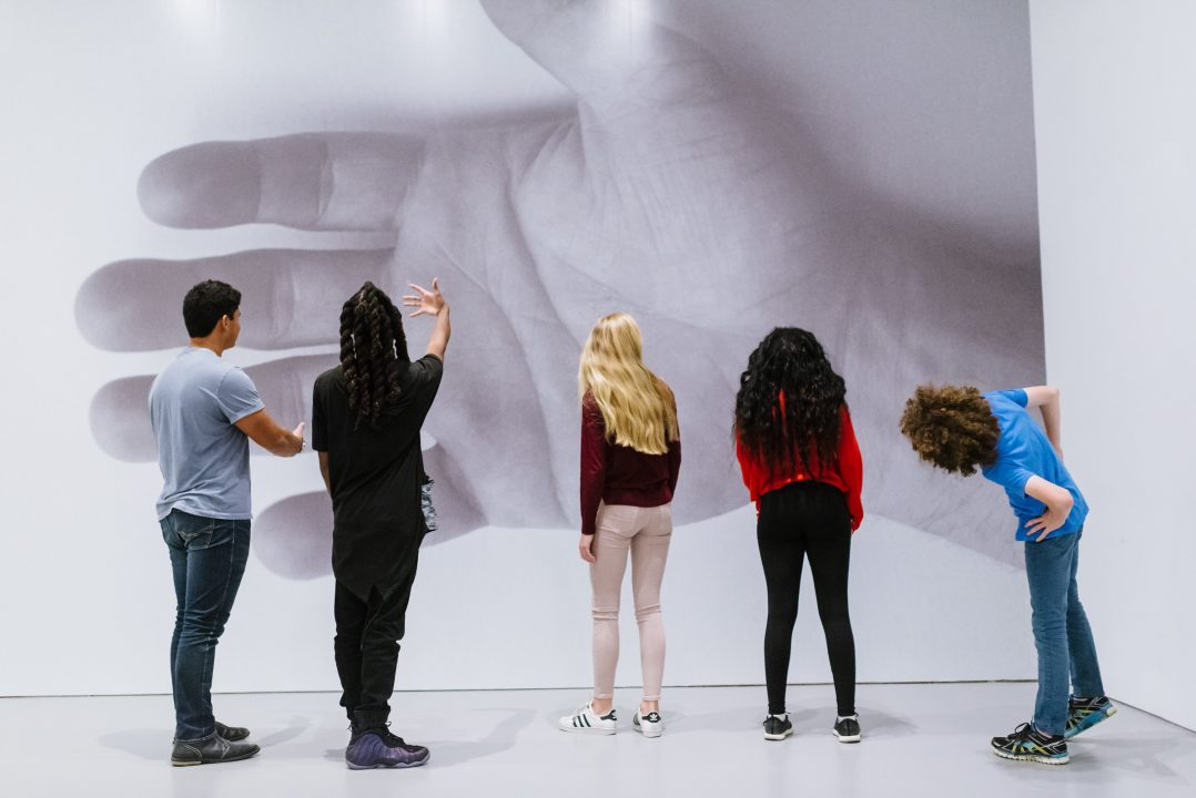 Teens in the galleries