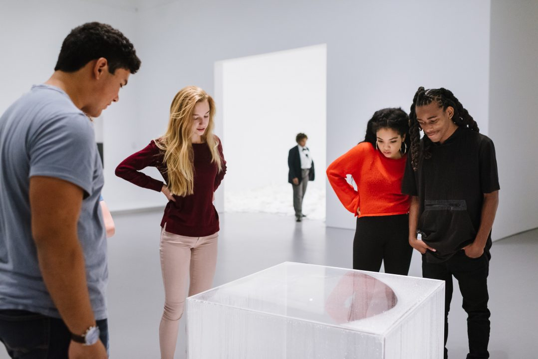 Teens in the gallery