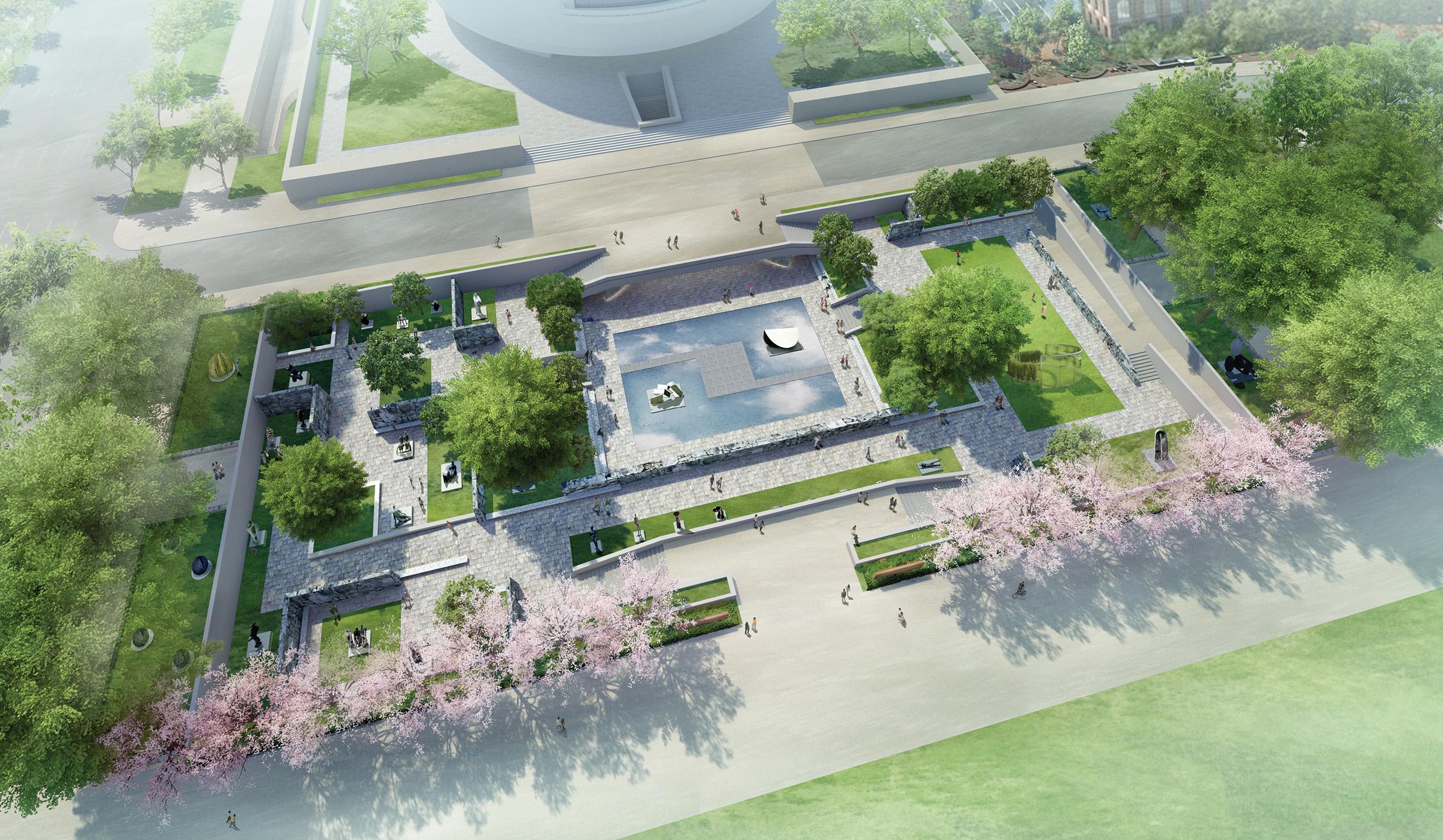 Hirshhorn Sculpture Garden preliminary concept design.
