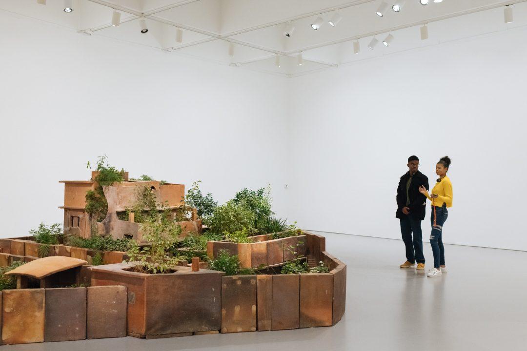 Teens in the galleries