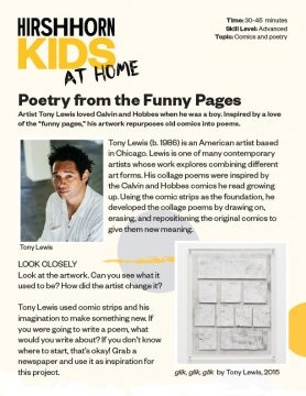 Poetry with the funny pages one pager thumbnail