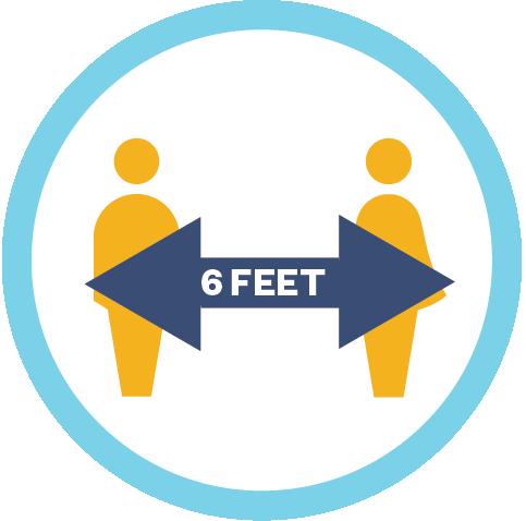 6 feet apart symbol