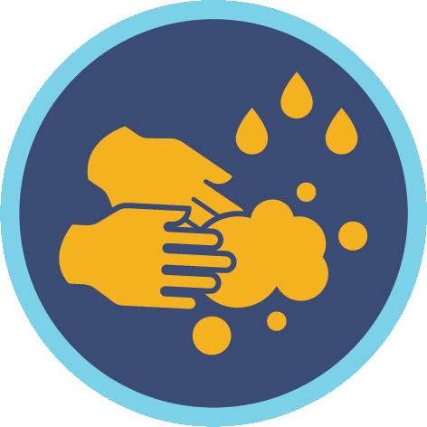 Hand washing symbol