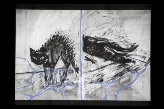 Screen capture from William Kentridge, Stereoscope, 1999