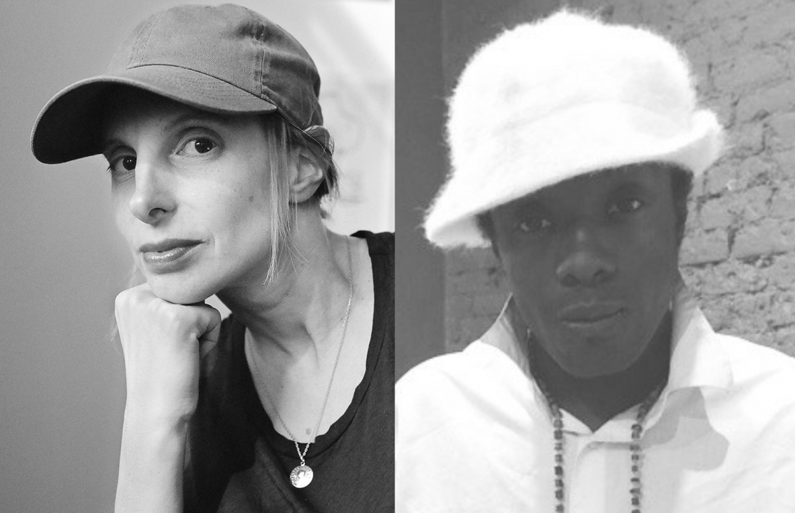 Black and white headshots of camille Henrot and Akwetey Orraca Tetteh
