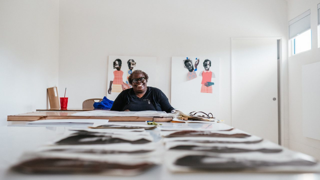 Deborah Roberts in studio setting