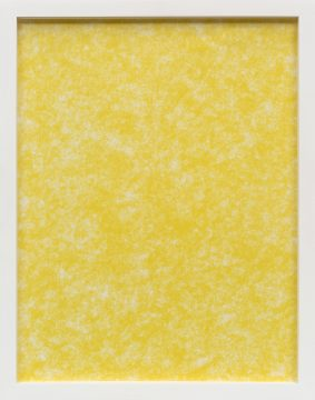 Bright yellow printed textured with spots of white throughout